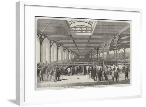 The Paris Agricultural Exhibition, the Cattle, General View--Framed Art Print
