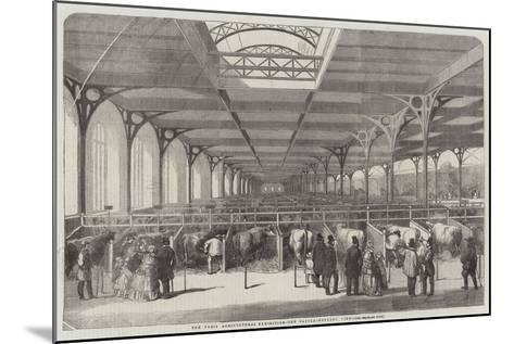 The Paris Agricultural Exhibition, the Cattle, General View--Mounted Giclee Print