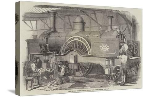 New Express Engine for the London and North-Western Railway--Stretched Canvas Print