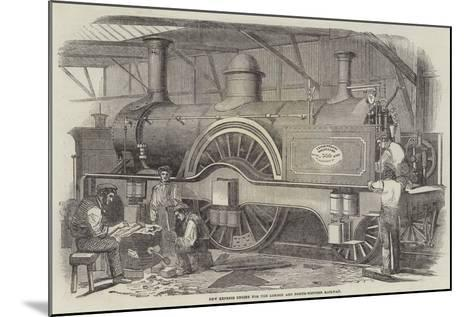 New Express Engine for the London and North-Western Railway--Mounted Giclee Print