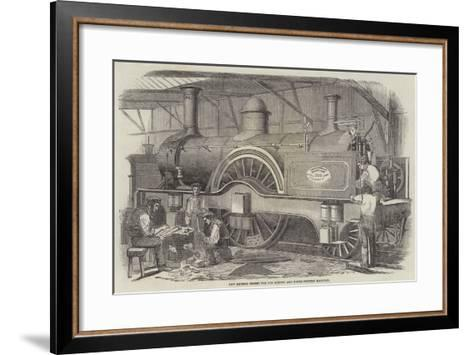 New Express Engine for the London and North-Western Railway--Framed Art Print