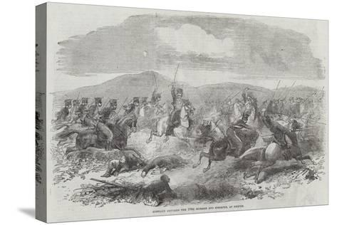 Conflict Between the 10th Hussars and Cossacks, at Kertch--Stretched Canvas Print