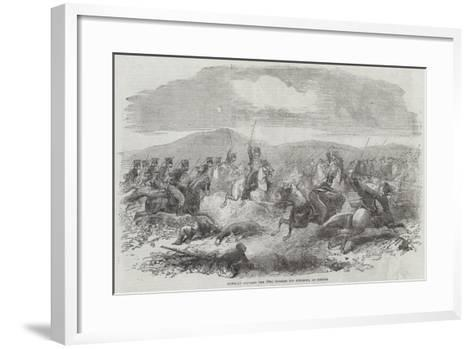 Conflict Between the 10th Hussars and Cossacks, at Kertch--Framed Art Print