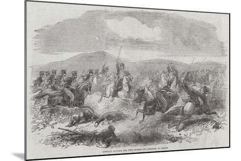 Conflict Between the 10th Hussars and Cossacks, at Kertch--Mounted Giclee Print