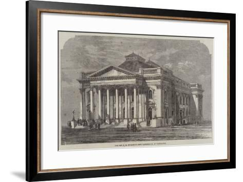 The Reverend C H Spurgeon's New Tabernacle, at Newington--Framed Art Print