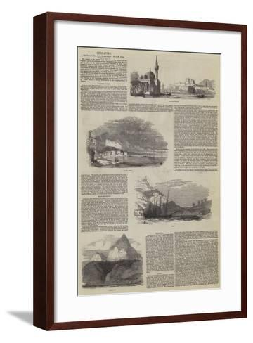 The Pictorial Tour in the Mediterranean, by J H Allan--Framed Art Print