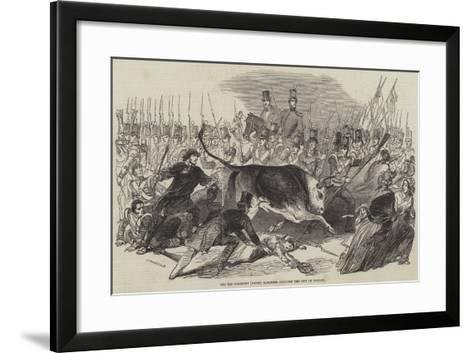 The 3rd Regiment (Buffs) Marching Through the City of London--Framed Art Print