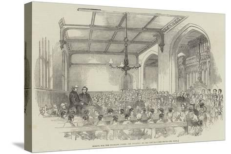 School for the Indigent Blind, Examination of the Pupils--Stretched Canvas Print