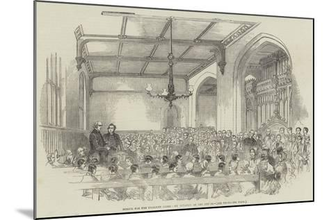 School for the Indigent Blind, Examination of the Pupils--Mounted Giclee Print