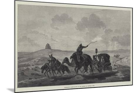 Passage of Quicksands in the Desert of Central Asia--Mounted Giclee Print