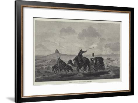 Passage of Quicksands in the Desert of Central Asia--Framed Art Print