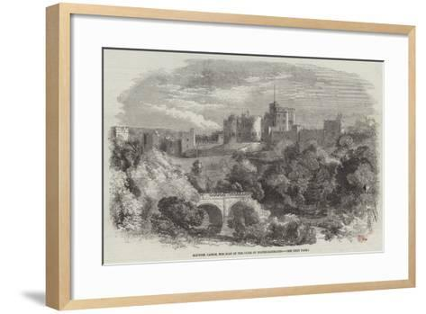 Alnwick Castle, the Seat of the Duke of Northumberland--Framed Art Print