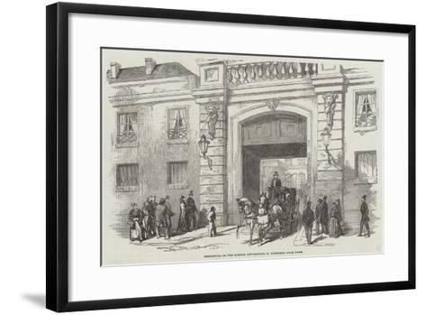 Departure of the Russian Ambassador, M Kisseleff, from Paris--Framed Art Print