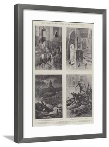The Cyclone in Sicily, Scenes in the Devastates District--Framed Art Print