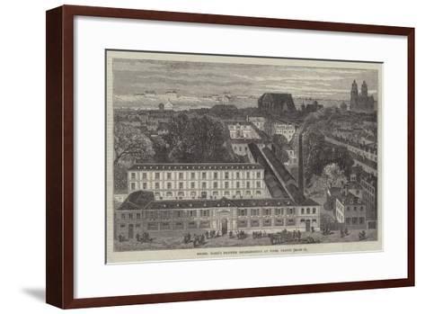 Messers Mame's Printing Establishment at Tours, France--Framed Art Print