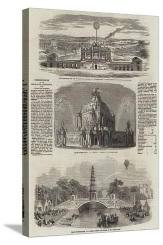 Commemoration of the Peace of Aix-La-Chapelle, 1748--Stretched Canvas Print