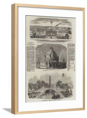 Commemoration of the Peace of Aix-La-Chapelle, 1748--Framed Art Print
