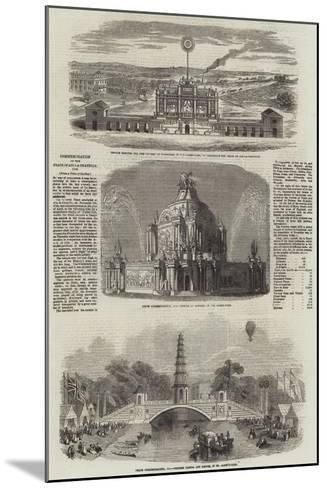 Commemoration of the Peace of Aix-La-Chapelle, 1748--Mounted Giclee Print