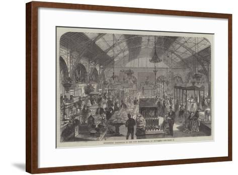 Industrial Exhibition in the New Market-Hall at Coventry--Framed Art Print