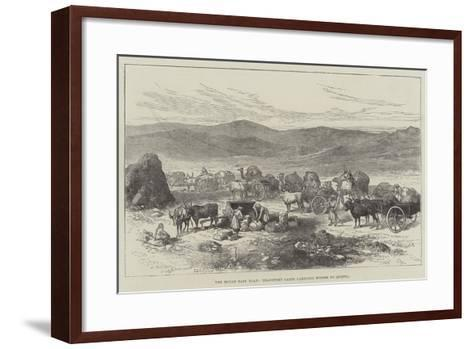 The Bolan Pass Road, Transport Carts Carrying Stores to Quetta--Framed Art Print