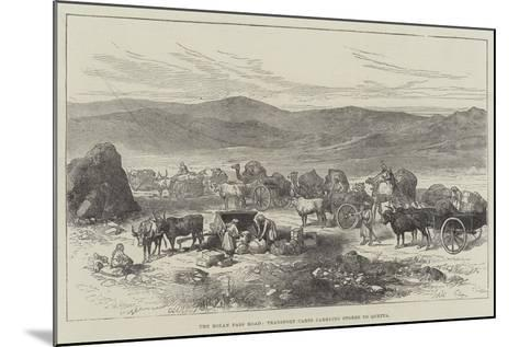 The Bolan Pass Road, Transport Carts Carrying Stores to Quetta--Mounted Giclee Print