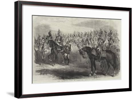Her Majesty's Visit to Paris, the Imperial Cent Gardes--Framed Art Print