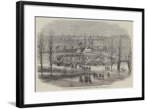 Commencement of the Dartmouth and Torbay Railway, at Torquay--Framed Art Print