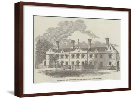 Goldsmiths' and Jewellers' Asylum, Manor-Road, South Hackney--Framed Art Print
