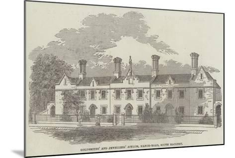 Goldsmiths' and Jewellers' Asylum, Manor-Road, South Hackney--Mounted Giclee Print