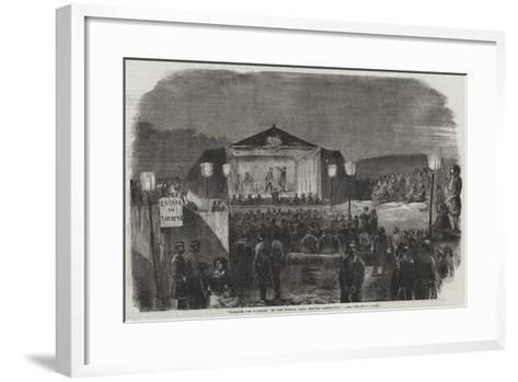 Theatre Des Zouaves, in the French Camp, before Sebastopol--Framed Art Print