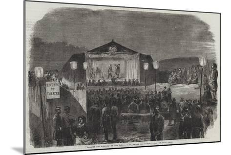 Theatre Des Zouaves, in the French Camp, before Sebastopol--Mounted Giclee Print
