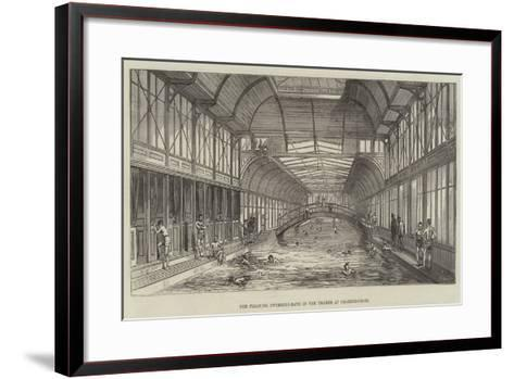 The Floating Swimming-Bath in the Thames at Charing-Cross--Framed Art Print