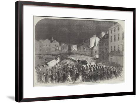 The Royal Pair Drawn Through Windsor by the Eton Scholars--Framed Art Print