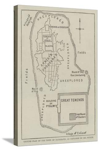 Ground Plan of the Town of Naukratis, as Explored by Mr Petrie--Stretched Canvas Print