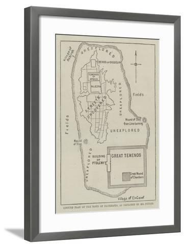 Ground Plan of the Town of Naukratis, as Explored by Mr Petrie--Framed Art Print