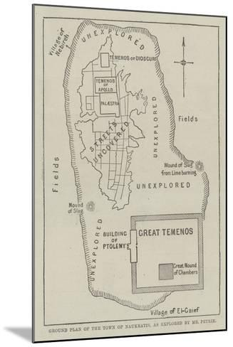 Ground Plan of the Town of Naukratis, as Explored by Mr Petrie--Mounted Giclee Print
