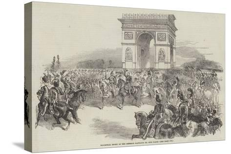 Triumphal Entry of the Emperor Napoleon III into Paris--Stretched Canvas Print