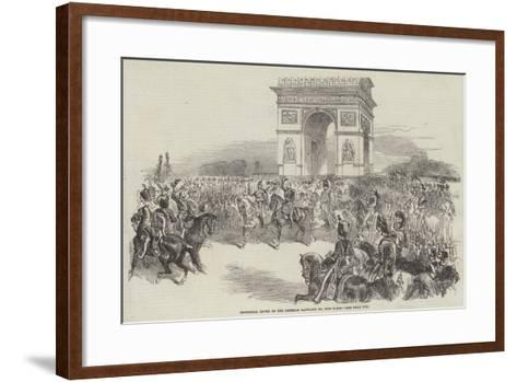 Triumphal Entry of the Emperor Napoleon III into Paris--Framed Art Print