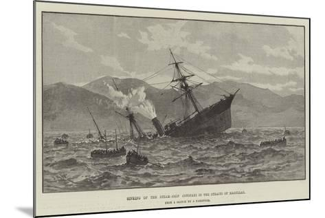 Sinking of the Steam-Ship Cotopaxi in the Straits of Magellan--Mounted Giclee Print