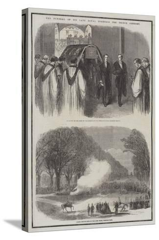The Funeral of His Late Royal Highness the Prince Consort--Stretched Canvas Print