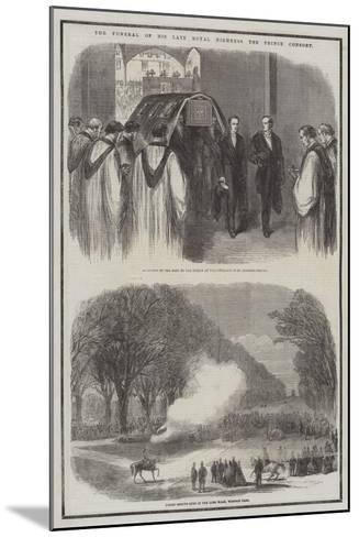 The Funeral of His Late Royal Highness the Prince Consort--Mounted Giclee Print