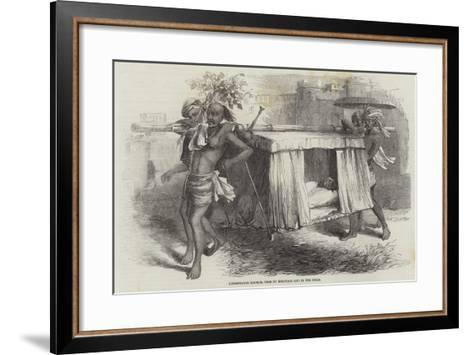 Hindostanee Dhoolie, Used by Hospitals and in the Field--Framed Art Print