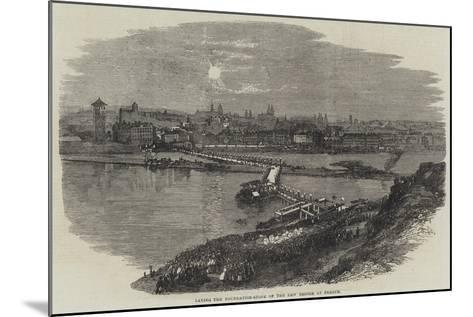 Laying the Foundation-Stone of the New Bridge at Prague--Mounted Giclee Print