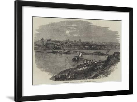 Laying the Foundation-Stone of the New Bridge at Prague--Framed Art Print