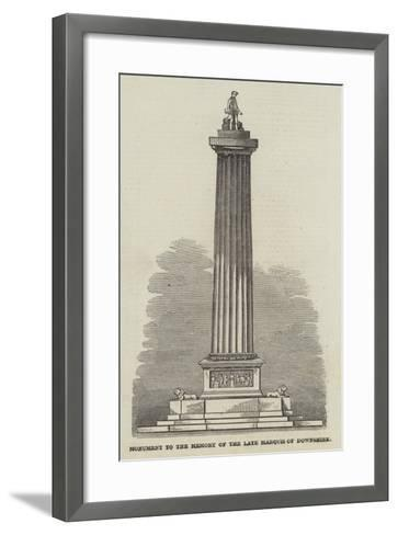 Monument to the Memory of the Late Marquis of Downshire--Framed Art Print