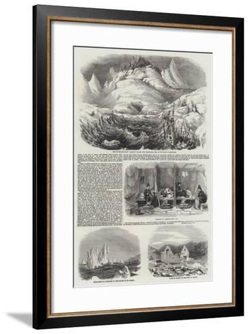Mining and Mineralogical Exploring Expeditions in Greenland--Framed Art Print