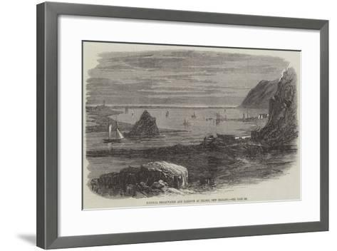 Natural Breakwater and Harbour at Nelson, New Zealand--Framed Art Print