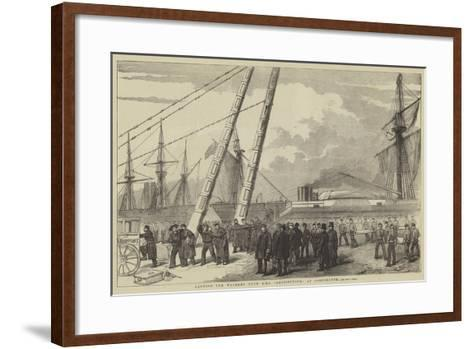 Landing the Wounded from HMS Retribution, at Portsmouth--Framed Art Print