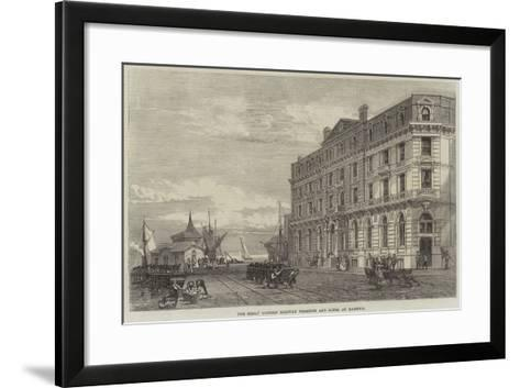 The Great Eastern Railway Terminus and Hotel at Harwich--Framed Art Print