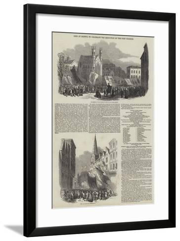 Fete at Bristol to Celebrate the Reduction of the Port Charges--Framed Art Print